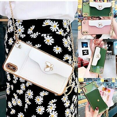AU14.24 • Buy Leather Crossbody Strap Wallet Case Cover For IPhone 12 Pro Max 11 XS 7 8 Plus
