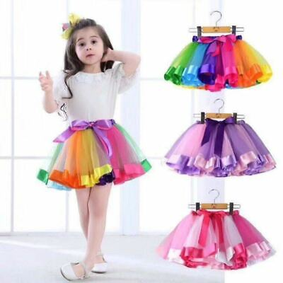 $6.99 • Buy For Girls Kids Dresses  Birthday Party Wear Princess Girl Tutu Gown