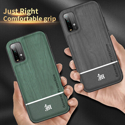 AU6.03 • Buy For Xiaomi Redmi 9T / 9 Power Fashion Wood Grain Leather Case Ring Stand Cover