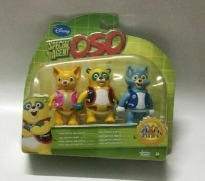 £26.26 • Buy Disney Oso Special Agent Oso Wolfie Dotty Figures Toy Set New