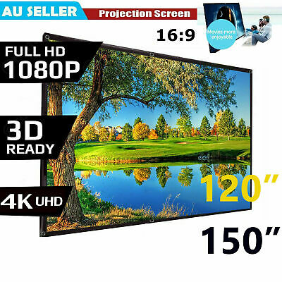 AU20.59 • Buy Foldable Projector Screen 16:9 Home Theater Cinema Outdoor Movie Projection AU