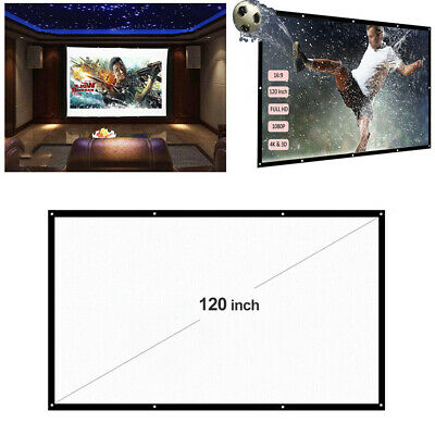 AU20.99 • Buy 16:9 120  Foldable Projector Screen Portable Outdoor Home Movie Cinema HD 1080P