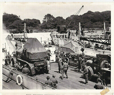 Original WW2 Press Photo Of Royal Engineers Embarking For D-Day  • 30£