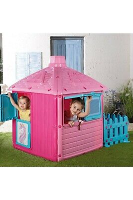 £80 • Buy Pink Unicorn Play House With Fence Kids Wendy Playhouse Plastic COLLECTION CW1