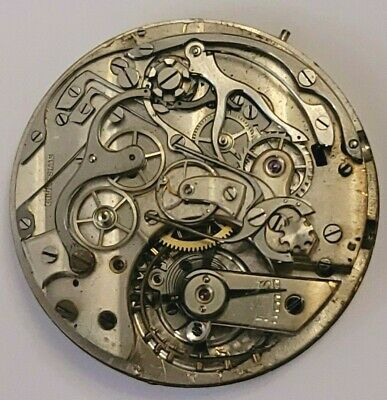 $ CDN604.98 • Buy Vintage Split Second Rattrapante Chronograph Pocket Watch Movement 42mm AS IS