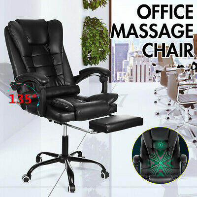 AU100.26 • Buy Executive Massage Office Chair Computer Gaming Chair Leather Recliner Footrest