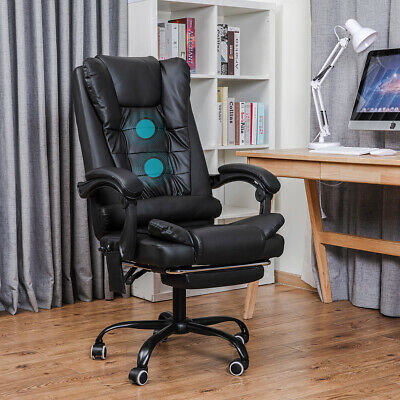 AU108.95 • Buy Massage Executive Office Chair Gaming Racing Chairs Desk Seat Leather Footrest