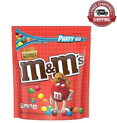 $15.88 • Buy M&M'S Peanut Butter Chocolate Candy Party Size, 34 Ounce Bag
