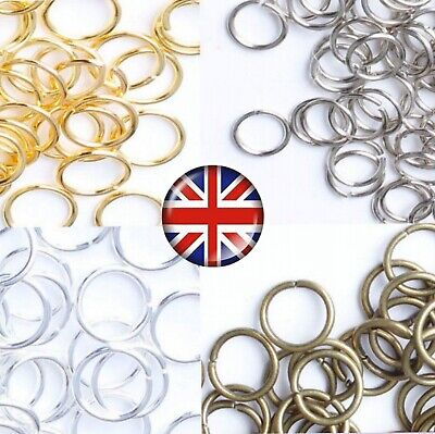 £1.75 • Buy SINGLE BRONZE SILVER & GOLD COLOUR JUMP RINGS 4mm 5mm 6mm 7mm 8mm 10mm JR3