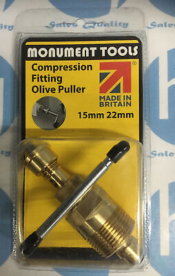 £20.99 • Buy Olive Puller Removal Plumbers Tool 15mm And 22mm - Monument Tools -