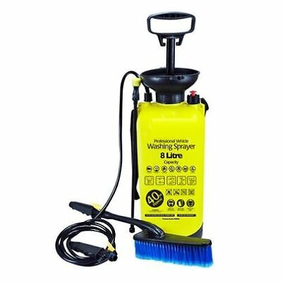 £17.99 • Buy New 8 Litre High Pressure Sprayer Portable Water Jet Cleaner W/brush Yellow Home