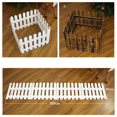 £12.59 • Buy Home Garden Wood Picket Fence Path Border Lawn Plant Beds Edging Christmas Tree