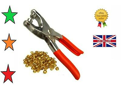 £3.25 • Buy 50 Eyelet Fabric Punch Pliers Leather Canvas Hole Puncher Tool 50 Eyelets