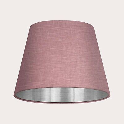 £36 • Buy Empire Tapered Mauve Textured 100% Linen Brushed Silver Lampshade Light Shade