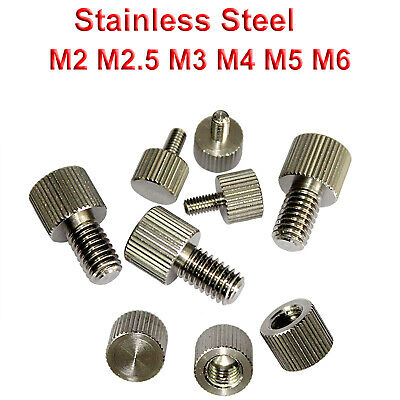 $1.59 • Buy M2 M3 M4 M5 M6 Precision Knurled Thumb Screw/Nut Stainless Steel Round Head Bolt