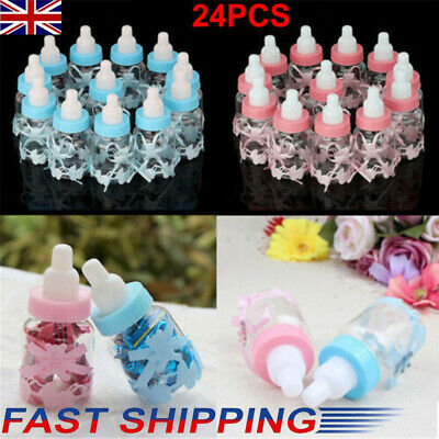 £7.99 • Buy 24X Fillable Bottles Candy Box Baby Shower Baptism Party Favour Christening New