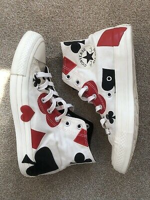 £60 • Buy Converse Deck Of Cards 6 Queen Of Hearts High Tops Very Good Condition Rare