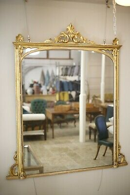 £1685 • Buy Large Gothic Influence Victorian Gilt Overmantel Mirror