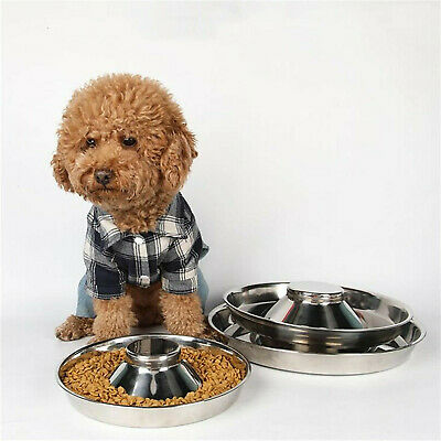 £8.15 • Buy Puppy Dog Pet Cat Litter Food Feeding Weaning Silver Stainless Feeder Bowl Dish