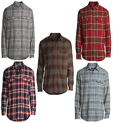 $12.29 • Buy George Mens Long Sleeve Plaid Flannel Shirt Nwt Various Colors Size 3xl