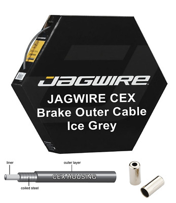 £5.49 • Buy JAGWIRE CEX Grey 5mm Bike Brake Outer Cable Housing Polymer Lined - Metal Ends