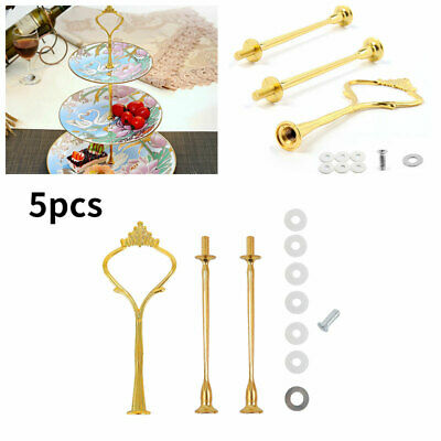 £8.12 • Buy 5pcs/set Cake Stand Fitting 3 Tier Cupcake Plate Rack Handle Rod Wedding Party