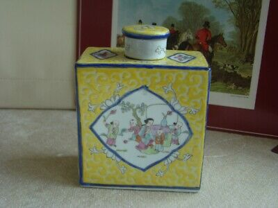 £120 • Buy Vintage Chinese Multicolour Porcelain Covered Tea Caddy Jar
