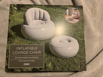 £34.99 • Buy Inflatable Lounge Chair And Footstall - Same Day Dispatch!