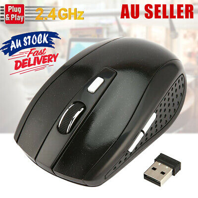 AU9.95 • Buy 2.4GHZ Wireless Mouse USB Dongle Laptop Optical PC Scroll Cordless With