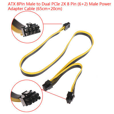 AU7.40 • Buy ATX 8Pin Male To Dual PCIe 2X 8 Pin (6+2) Male Power Adapter Cable For Corsair