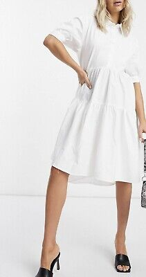 AU10.50 • Buy Asos Misguided White Shirt Dress Very Oversized Size 10 - 12 Loose Relaxed Fit