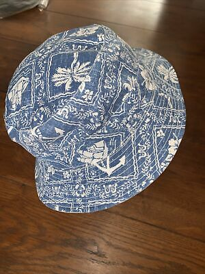 £12 • Buy Brooks Brothers Blue Bucket Hat RRP £45 Beach Theme S/M, M/L 100% Cotton- Anchor