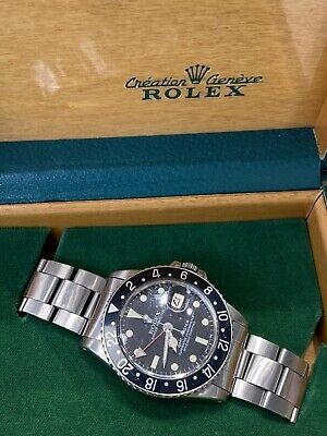 $ CDN18137.20 • Buy Rolex GMT Master 1675 Black Dial Stainless Steel With Box
