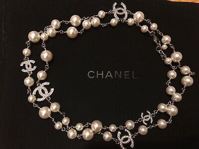 £1769.97 • Buy Gorgeous Chanel Long Pearl Necklace  - Authentic