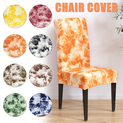 AU16.75 • Buy Chair Cover Stretch Removable Slipcovers Seat Cover Dining Wedding Party