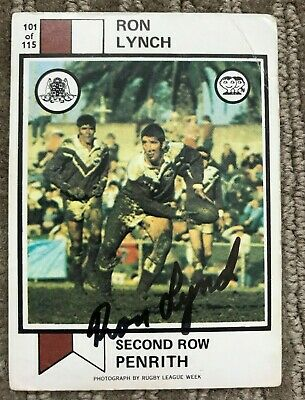 AU39 • Buy Signed Scanlens 1974 - Ron Lynch # 101 - Penrith Panthers