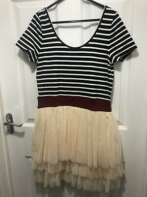 £8 • Buy Hearts And Bows Striped Tutu Dress Size 12