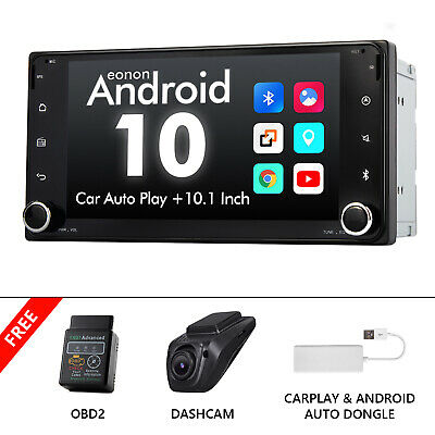 AU459.99 • Buy OBD+DVR+CarPlay+For Toyota Head Unit Android 10 Double Din 7  IPS Car Stereo GPS