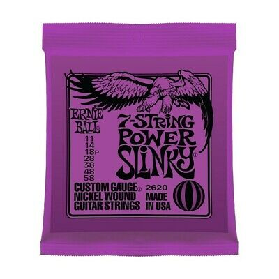 AU14.49 • Buy Ernie Ball Power Slinky 7 String Electric Guitar Strings 11-58 2620