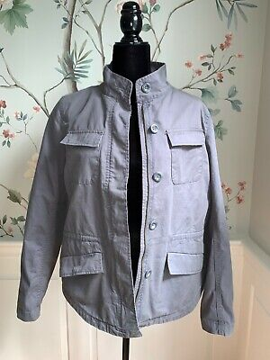 $17 • Buy LOFT OUTLET Gray Utility / Military Style 100% Cotton Button Up Jacket - Medium