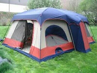 AU258.29 • Buy Jeep 3 Room Cabin Dome Tent 17x11x84 Huge W 2 Closets 8-10 People SAMT-1711 RARE