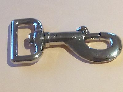 £1.99 • Buy 78mm VERY SOLID Trigger Swivel Snap Hook Clip Nickel Plated Dog Lead