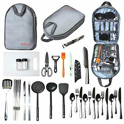 £69.71 • Buy Camping Cooking Utensils Kitchen Equipment Portable Picnic Cookware Campfire New
