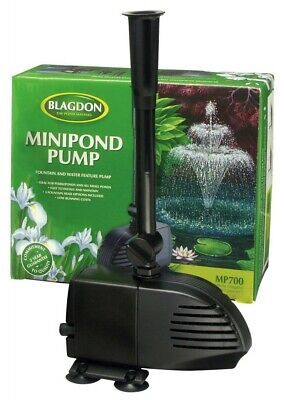 £27.99 • Buy BLAGDON MINI POND PUMP 700 For Small Pond And Water Features. 10m Power Cable