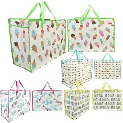 £3.99 • Buy Extra Large Jumbo Laundry Shopping Bags Childrens Toy Storage Reusable Bags New