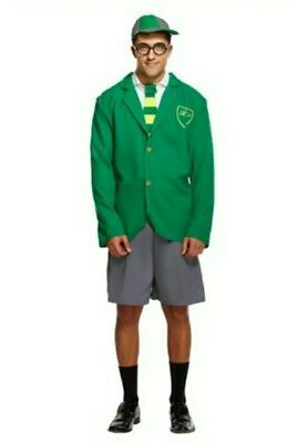 £7 • Buy Adult School Boy Costume One Size Green Cosplay Harry Potter Slytherin Vibes