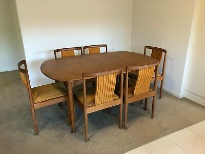 AU1750 • Buy Parker Furniture Mid Century Modern Vintage Extendable Dinning Table And Chairs