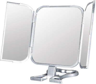£8 • Buy Folding Travel Mirror And Stand Portable Mirrors Foldable Silver 22.5/11 Cm
