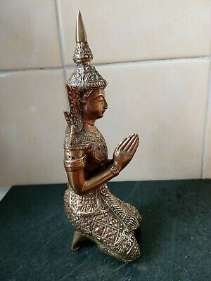 Kneeling Brass Praying Namaste Thai Buddha Statue / Figure  • 40£
