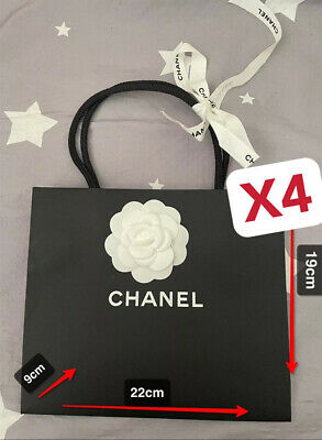 £7.50 • Buy 100% Authentic Chanel Small Paper Bag(22×19×9cm) With Flower And Ribbon